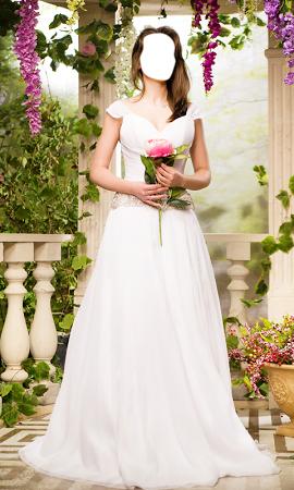 Коллаж в свадебном платье