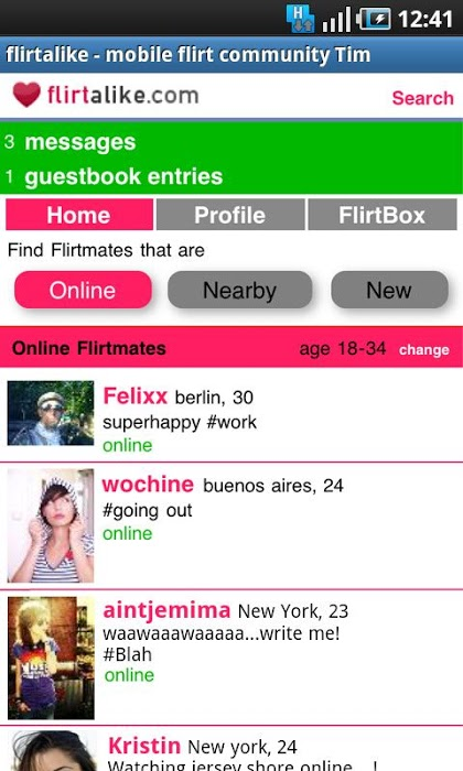 flirtatious dating site