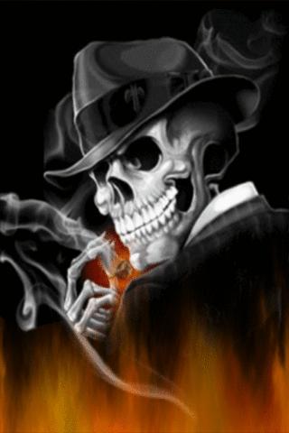 gangster skeleton live wallpap android informer