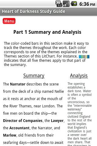 heart of darkness study guide Mhdaon study guide: heart of darkness part i i pre reading 1 view the animated summary of heart of darkness (scroll down to the bottom of the page and click on view the video).