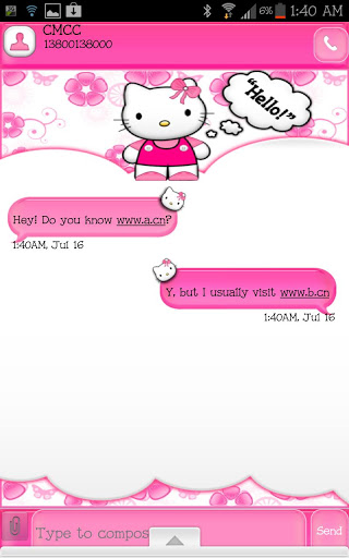 💐 Free download go sms themes hello kitty | Hello Kitty