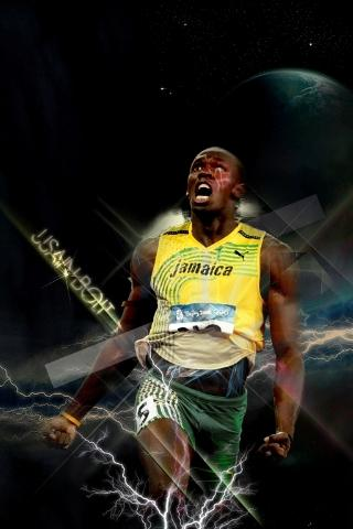 Athletic Superman Usain Bolt Free Download