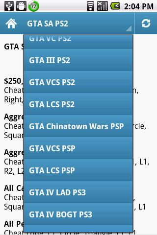 GTA Cheats PS2 PS3 PSP PC Free Download - andromo dev27338